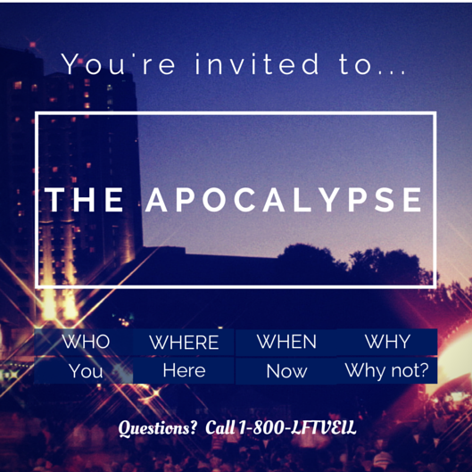 Apocalypse invitation